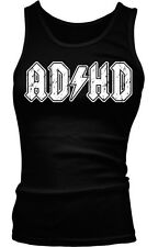 ADHD Lightning Bolt Parody ACDC ADD Entourage Funny TV Humor Boy Beater Tank Top