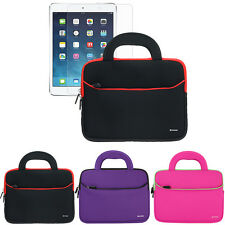Tablet Sleeve Handle Carrying Case+LCD Screen Protector For Apple iPad Air 1 & 2