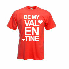 NEW WOMENS MENS BE MY VALENTINE LOVE VALENTINES DAY COUPLES CUTE T-SHIRT