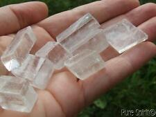Clear Optical Rainbow Calcite Natural Cube Crystal DISSOLVES ILLUSION ~ CLARITY