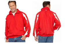 RUSSELL ATHLETIC MEN'S BIG & TALL WIND JACKET RED WHITE SIZE 3XLT NWT NEW $60