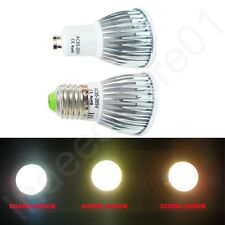 GU10 E27 Dimmable LED COB Spotlight Bulb 5W Warm White Cool White Natural White