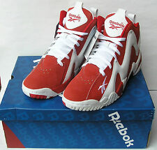 Reebok Kamikaze II Mid Classic Red/White NEW V61030 Basketball Shoes New Sizes