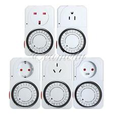 24-Hour Mechanical Electrical Plug Program Timer Power Switch Energy Saver New