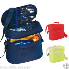 Cooler PICNIC Bag - Insulated Coolbag Hamper - Napkins Cups Cutlery - CAMPING