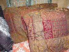 CROSCILL OPULENCE GOLD UMBER RED TUSCAN (PAIR) KING PILLOW SHAMS POLYESTER 21X37