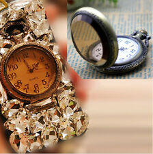 Pocket watch Crystal Rhinestone DIY iphone 4s 5 Cell Phone Case Deco Kit