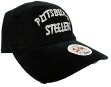 Pittsburgh Steelers NFL Reebok Adult Old Orchard Beach Flex Slouch Fitted Hat