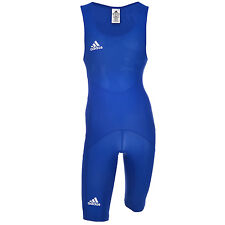 adidas Performance Clubline Mens Wrestling Suit Singlet - Blue