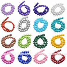 Wholesale Lots Czech Opaque Coated Glass Pearl Round Beads 4mm 6mm 8mm 10mm 12mm