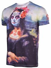 Sex Money Weed Men's The Mona Chica Sublimated T-Shirt-Black