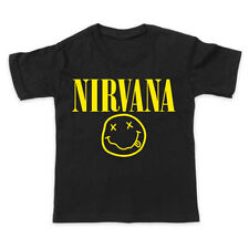 NIRVANA ROCK METAL GRUNGE CHILDREN KIDS T SHIRT ALL COLOURS ALL SIZES
