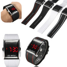 Stylish LED Alarm Date Digital Men Women Sports Fashion Gel Watch Wrist Bracelet
