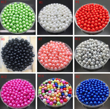 4mm 6mm 8mm  Round Glass Pearl Spacer Beads White Black Many Colors To Pick
