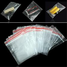 100x Clear Grip Press Seal Resealable Poly Zip Lock Plastic Bags 4x6 To 40x60 cm