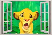 LION KING SIMBA 3D Window View Decal WALL STICKER Home Decor Art Mural Wallpaper