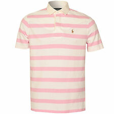 Mens Polo Ralph Lauren Custom Fit Short Sleeve Rugby Jersey In Pink