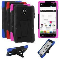 Phone Case For LG Optimus L9 P769 MS769 Rugged Hybrid Hard Cover Stand