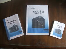 Canon EOS User guides Instruction manual  PRINTED & BOUND in A4  A5 or A6 Sizes