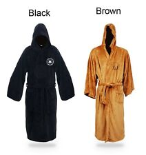 New Star Wars Jedi Knight Costume Hooded Toweling Bath Robe velour Size S-M-L###