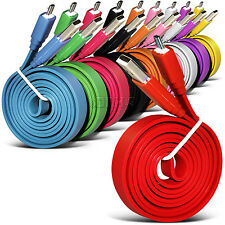 1m Micro USB Flat Noodle Data Transfer Sync Cable For Various WIKO Mobile Phones