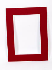 BURGUNDY PHOTO/PICTURE MOUNTS - standard, oval & heart shaped apertures