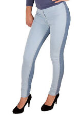 EX Atmosphere 2 Tone Ladies Jeans - High Waisted and Super Skinny Fit - New