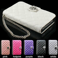 luxury bling Diamond wallet PU Leather Case Cover skin For SAMSUNG Galaxy S4 SIV