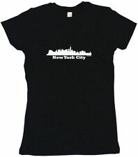 New York City Skyline Silhouette Womens Tee Shirt Pick Size Color Petite Regular