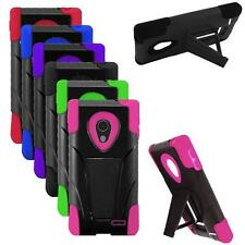 Phone Case For LG Lucid 3 Rugged Corner Hard Cover Kickstand