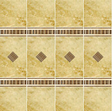 Dolls House Wallpaper 1/12th 1/24th scale Bathroom Marble Tiles Quality #10T
