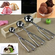 Stainless Steel Scoop for Ice Cream Mash Potato Food Spoon Kitchen Ball 3 Size