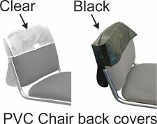 Chair Back Cover For Hairdressing Seats Or Similar PVC Plastic Clear or Black