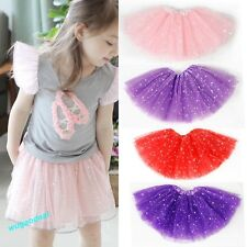 Girls Kids Tutu Skirt Party Ballet Dance Wear Dress Pettiskirt Costume