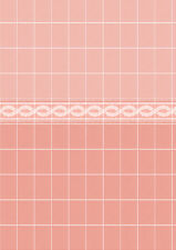 Dolls House Wallpaper 1/12th 1/24th scale Bathroom Pink Tiles Quality #19T