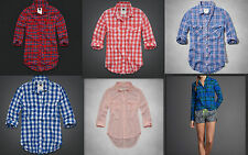 NEW ABERCROMBIE HOLLISTER GILLY HICKS Button Down Women Shirt Top Size XS,S,M,L