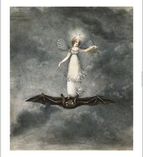 AMELIA JANE MURRAY Fairy Standing On A Bat new CANVAS! various SIZES, BRAND NEW