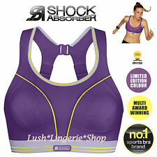 SHOCK ABSORBER Ultimate Run Purple Lime Sports Bra New 32 34 36 38 A to F Cups