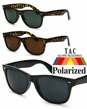 Men Women Polarized Classic Retro Square Wayfarer Black Sunglasses