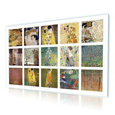 BIG Canvas Gustav Klimt Collage The Kiss Set Lot 15 pic repro photos art GICLEE