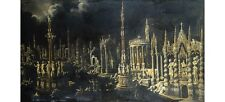 """MONSO DESIDERIO """"An Architectural Fantasy"""" CANVAS PRINT various SIZES, BRAND NEW"""