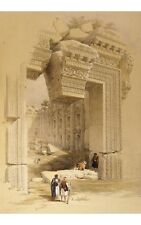"""LOUIS HAGUE """"Doorway Of Temple Of Bacchus"""" ON CANVAS various SIZES available"""