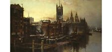 """T GREENHALGH """"A View Of The Houses Of Parliament"""" PRINT various SIZES, BRAND NEW"""