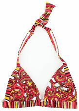 Speedo Ladies Bright Swirl Design Halter Neck Triangle Bikini Top