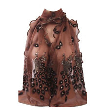 Women'  in 8 Styles Pretty Long Soft Flower Scarf Wrap Shawl Stole SJ1371