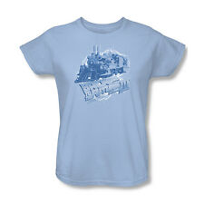 Back To The Future 3 Time Train T-Shirt Womens Tee Light Blue S M L Xl 2X