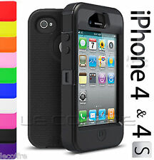 Hybrid Body Armor Rugged Defender Hard Protective Case Cover For iPhone 4 4S