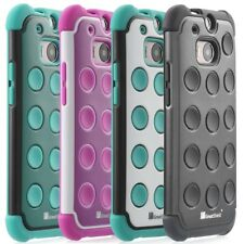 New For HTC One M8 Cute Polka Dot Pattern Rugged Hard Case Cover + Matte Film