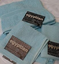 AQUA / TURQUOISE EGYPTIAN COTTON TOWELS, SOFT 500GSM TOWELS SETS IN 3 SET SIZES