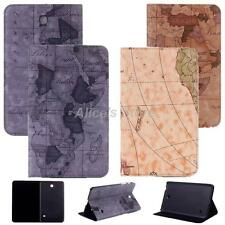 """World Map PU Leather Case Cover Stand for Samsung Galaxy Tab 4 8"""" Tablet T330"""
